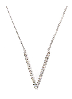 [925 Silver Line] 파인 땡스 목걸이 Fine Thanks Necklace no.1044