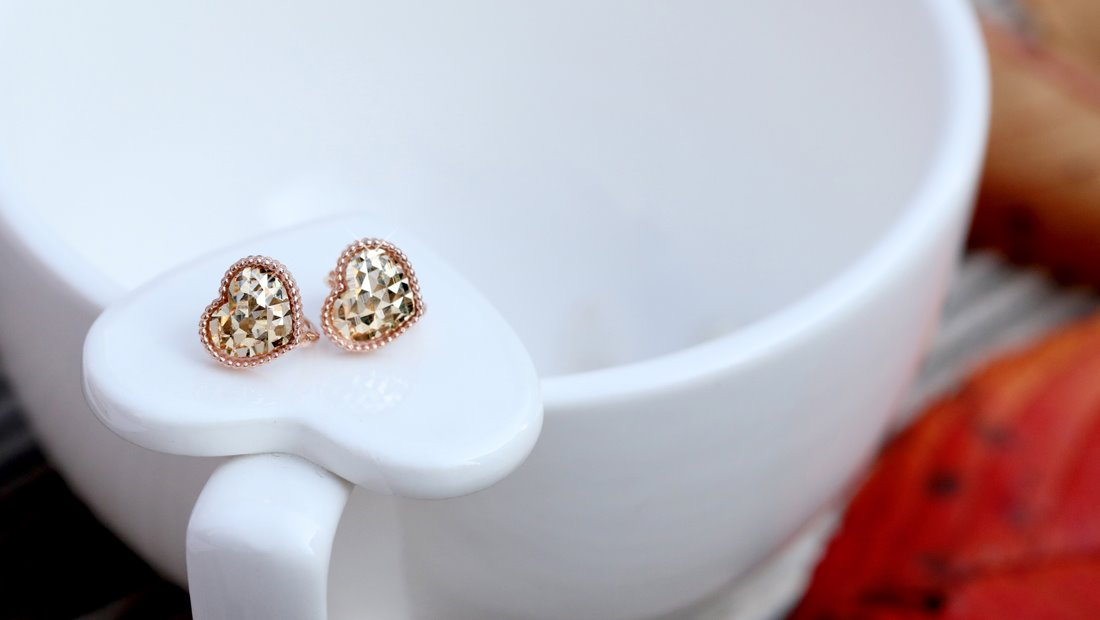 [14K/18K] Bling Cut Heart Earring 블링 컷 하트 이어링