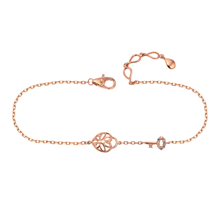 [14K Gold] 로맨틱 키 팔찌 Romantic Key Bracelet no.j3524