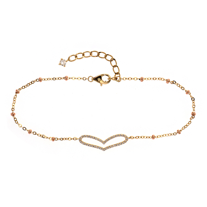 [14K Gold] 빅 하트 팔찌 Big Heart Bracelet no.j2826
